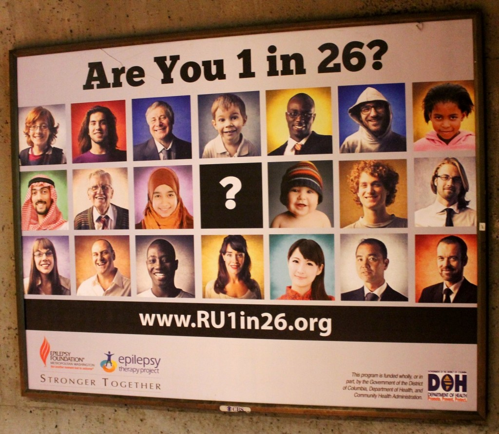 Are you 1 in 26? Epilepsy billboard on the train