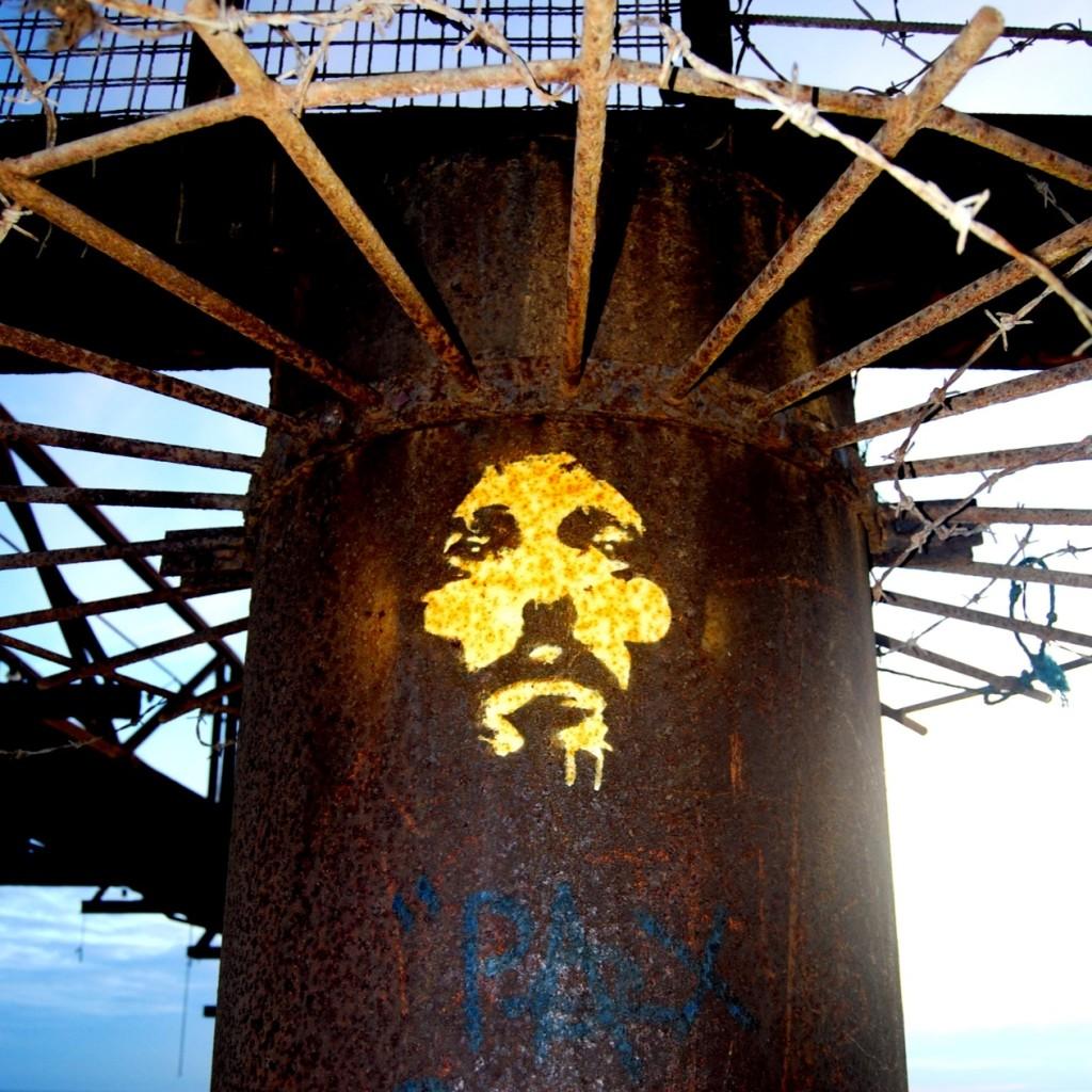 semi-disturbing Jesus graffiti