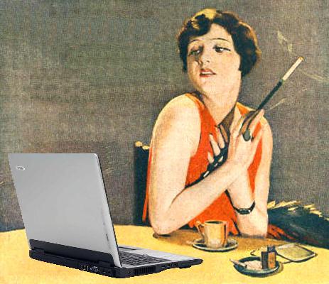retro 1920s blogger