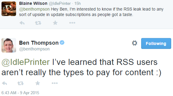 RSS readers don't pay for content