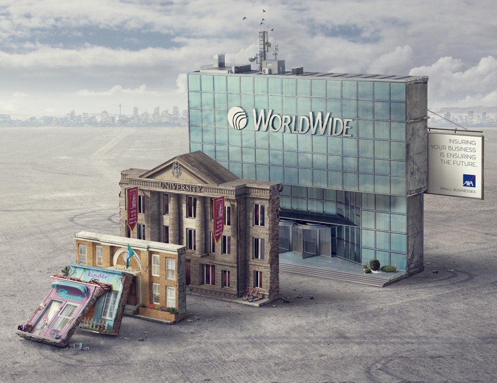 cooling toppling buildings ad