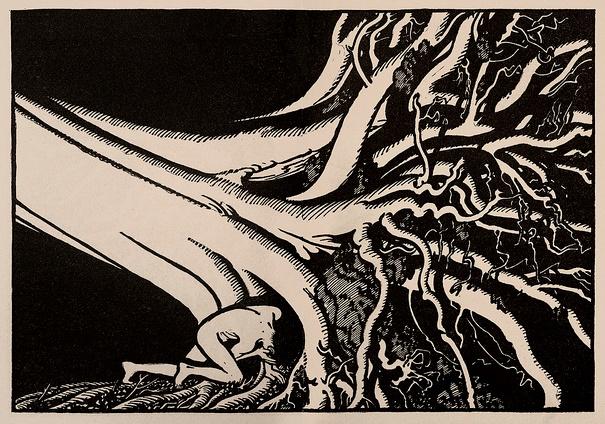 Illustration for Green Mansions by Keith Henderson circa 1930; via Thomas Shahan.