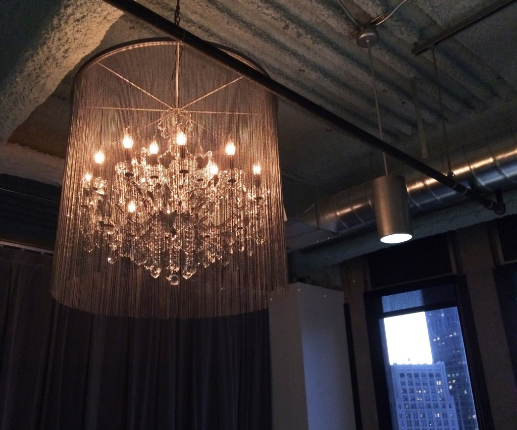 pretty chandelier at a party