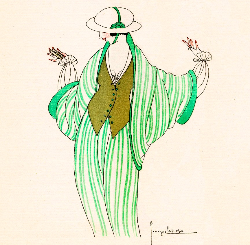 Fashion illustration by Georges Lepape (1887-1971) via MCAD Library.