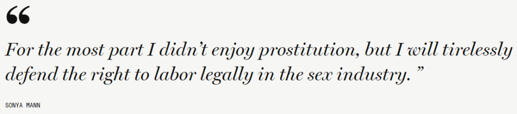 We need to fully decriminalize prostitution.
