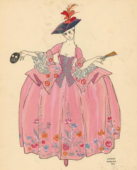 Fashion illustration by George Barbier (1882-1932) via the New York Public Library.