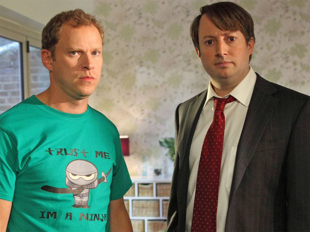 Main characters from Peep Show.