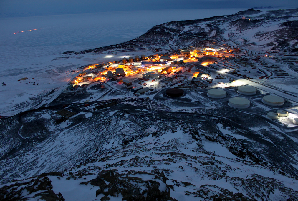 Photo of Antarctica's McMurdo Station by Eli Duke.
