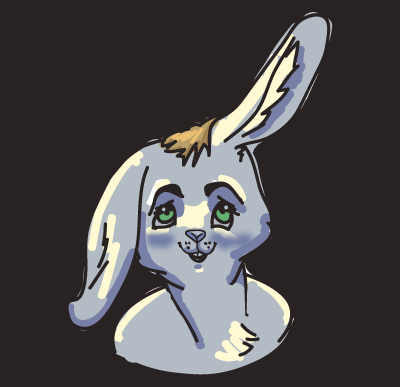 Rabbit based on Polyducks' color scheme, created by my Twitter friend @userlint.