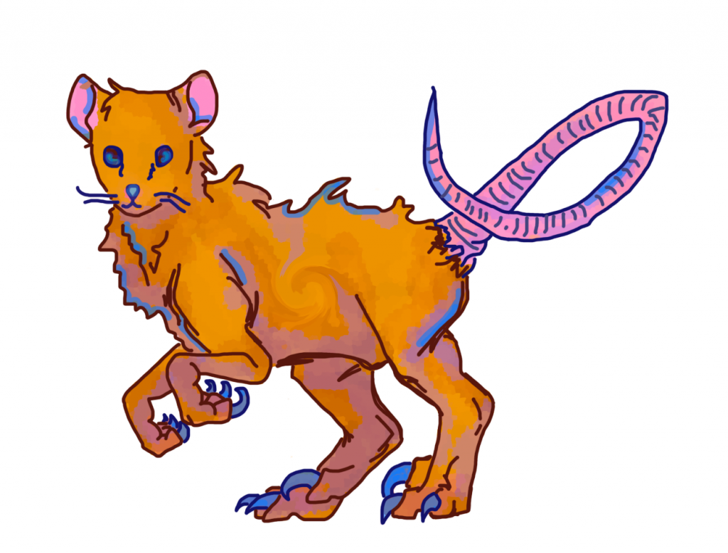 The mouse raptor, created using bases by DeviantArt users bardokks and dergenn