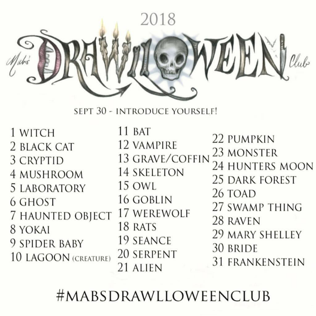 Mab Graves Drawlloween prompts